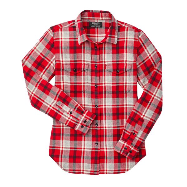 Filson Womens Scout Shirt Red / Heather Gray / Black