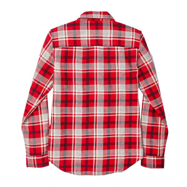 Filson Womens Scout Shirt Red / Heather Gray / Black