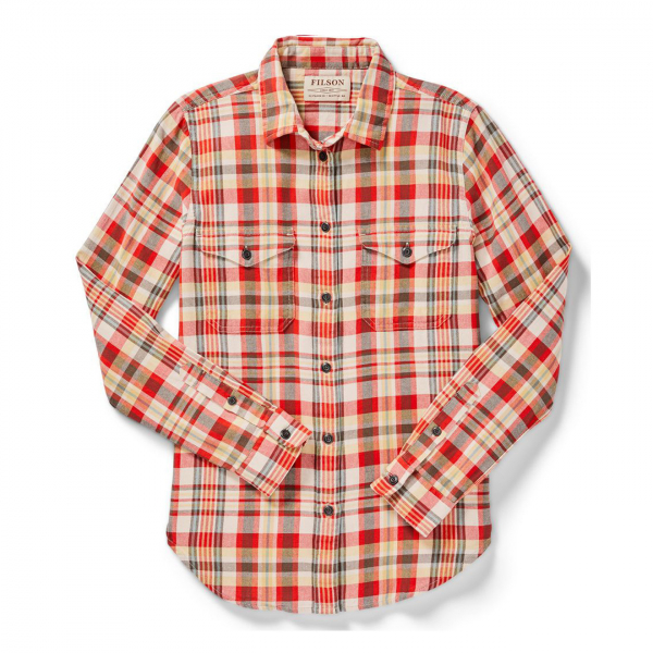 Filson Womens Scout Shirt Red/White/Gold