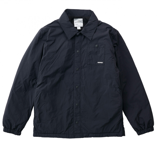 Gramicci Nylon Fleece Coaches Overshirt Black