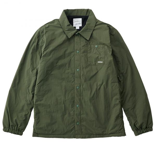Gramicci Nylon Fleece Coaches Overshirt Olive
