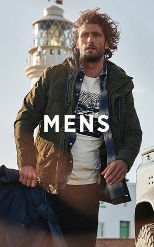 Man Wearing Barbour Green Jacket, Shirt and T-Shirt