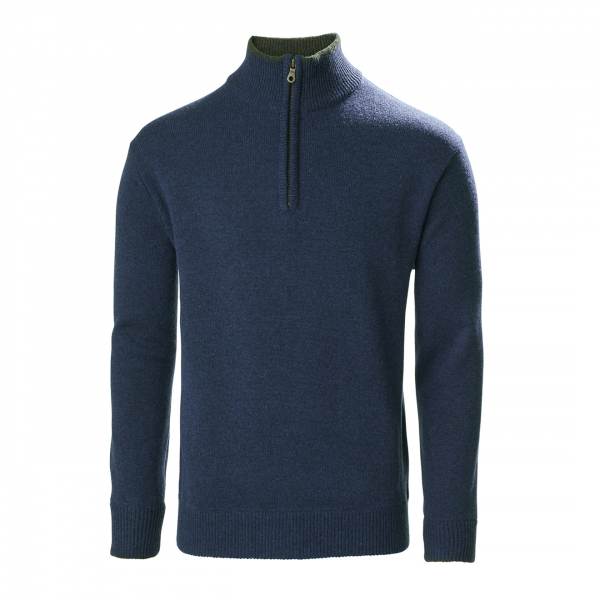 Musto Country Zip Neck Fleece Dark Cobalt
