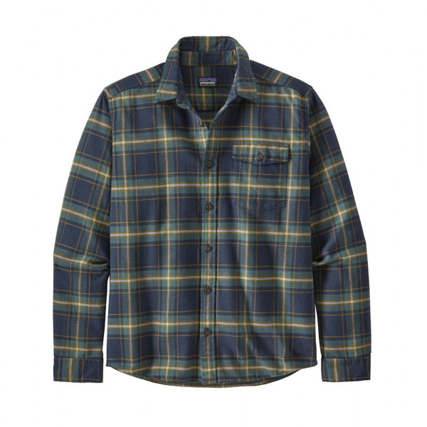 Patagonia L/S Lightweight Fjord Flannel Shirt Lawrence New Navy