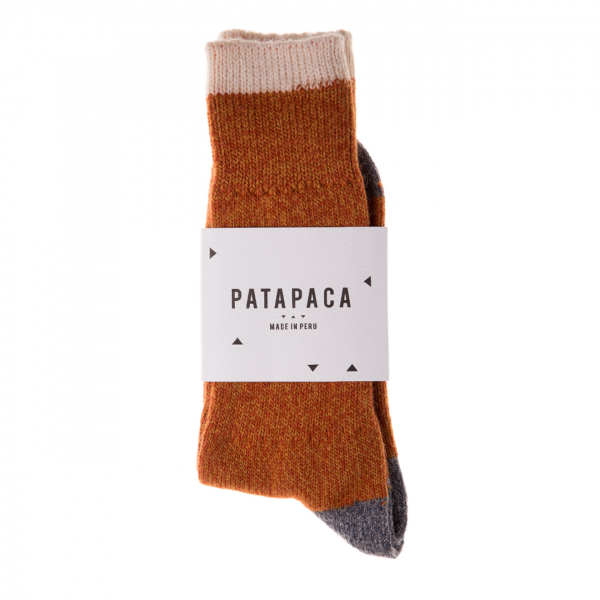 Patapaca Melange Sock Orange / Grey