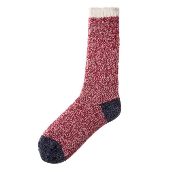 Patapaca Melange Sock Rojo / Plata