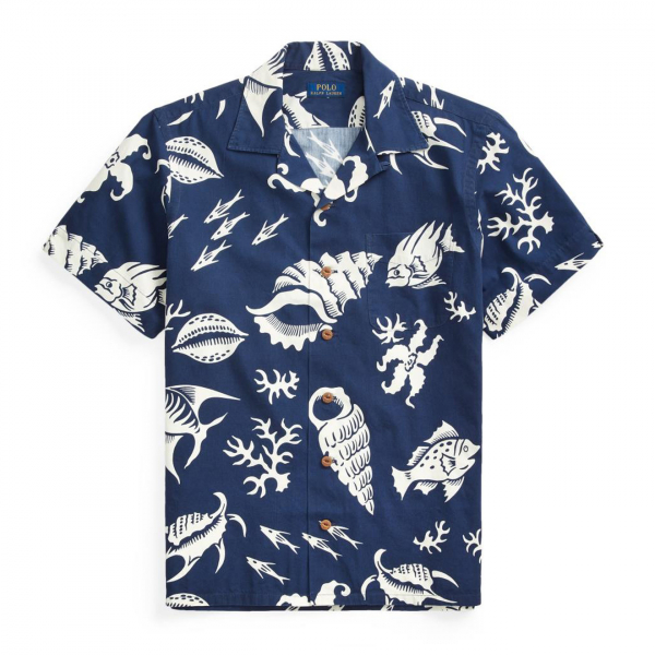 Polo Ralph Lauren Custom Fit S/S Shirt Beach Print