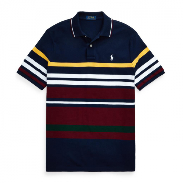 Polo Ralph Lauren Custom Slim Fit Mesh Polo Panel Navy