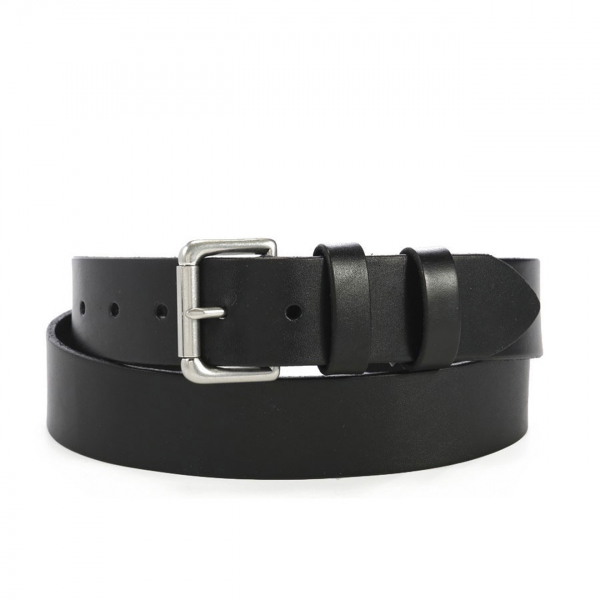 Polo Ralph Lauren Double Keeper Leather Roller Buckle Belt Black