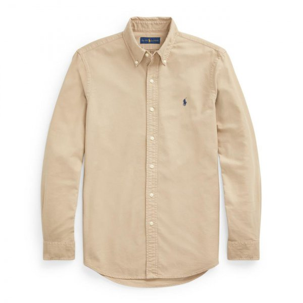 Polo Ralph Lauren Oxford L/S Slim Fit Shirt Tan