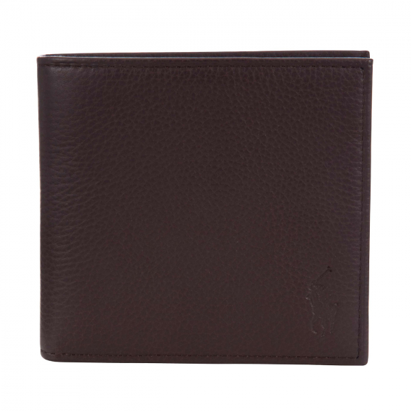 Polo Ralph Lauren Pebble Leather Billfold Wallet Brown -1- 15925 -1320x1320