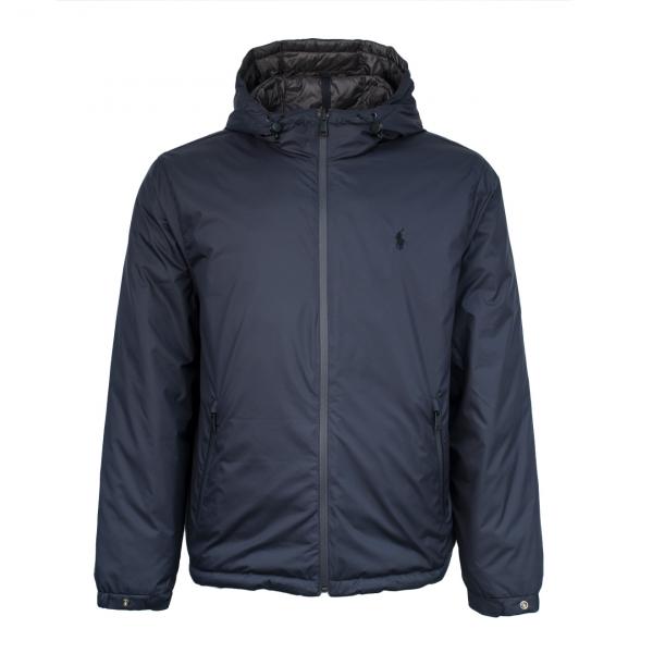 Polo Ralph Lauren Reversible Padded Hooded Jacket Navy / Grey