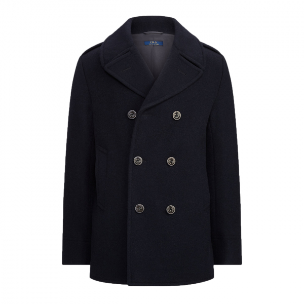 Polo Ralph Lauren Wool Melton Peacoat Jacket Navy