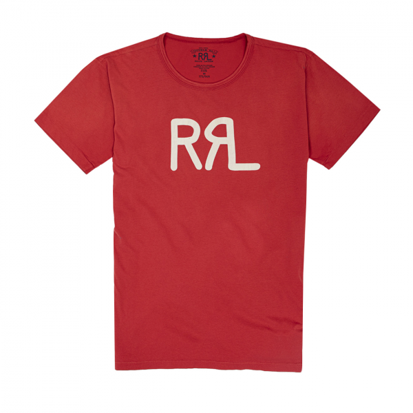 RRL by Ralph Lauren RRL Logo Jersey T-Shirt Red