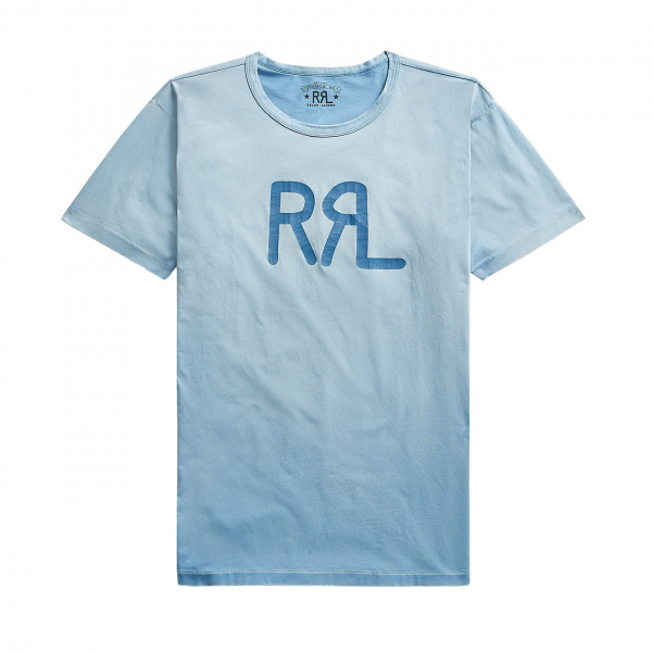 RRL by Ralph Lauren S/S Logo T-Shirt Curplus Blue