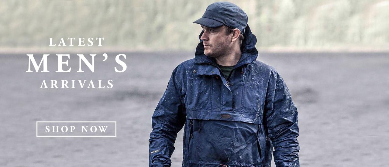 Man Wearing Barbour wax waterproof Jacket and Cap