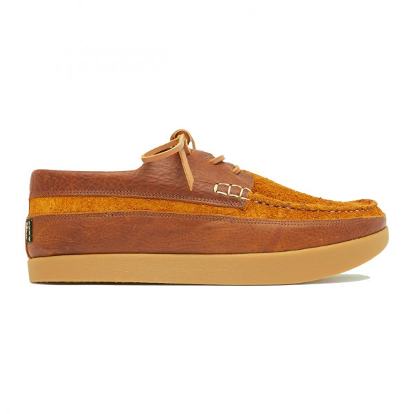 Yogi Logan Tumbled Leather / Reverse Shoe Chestnut Brown