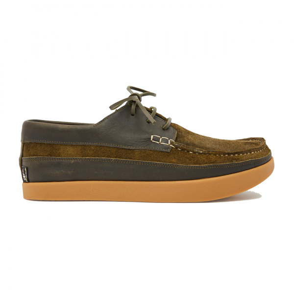 Yogi Logan Tumbled Leather / Reverse Shoe Olive