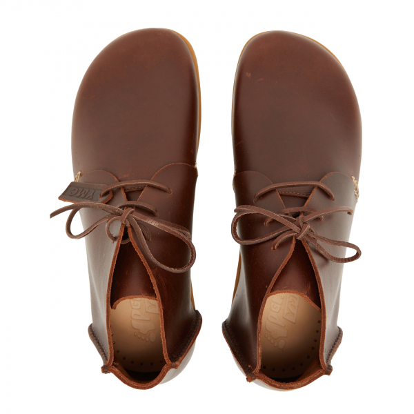 Yogi YMC Womens Archer Leather Shoes Brown