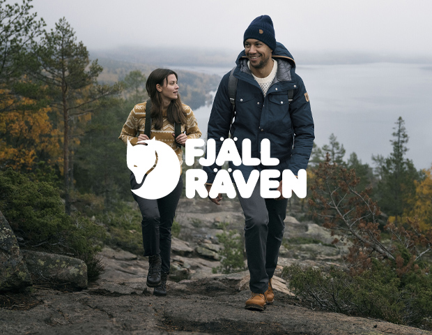 Man and Woman wearing Fjallraven Padded Coat and Knitted Jumper