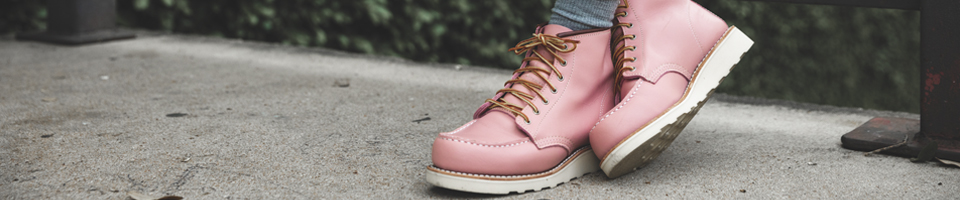 Pair of Premium Women's Pink Leather Boots