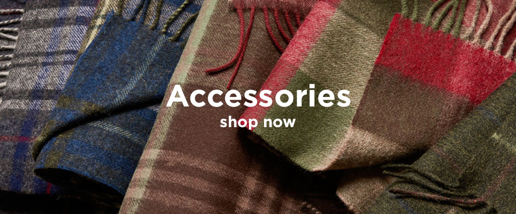 Selection of Barbour Tartan Classic Scarves.