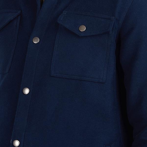 Barbour Cambridge Overshirt LS Shirt Navy Flap Close Button Pocket