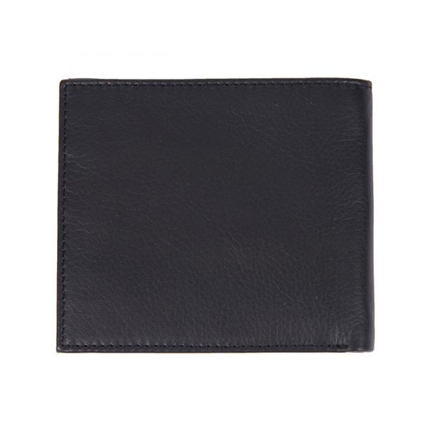 Barbour Colwell Leather Billfold Wallet Black / Seaweed Tartan