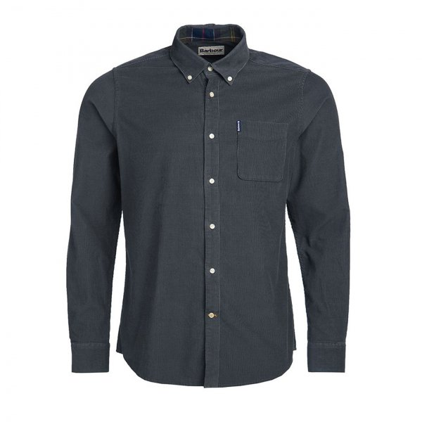 Barbour Cord 2 Tailored L/S Shirt Grey