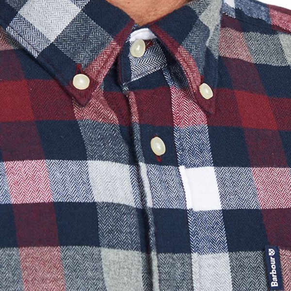 Barbour Country Check 5 Tailored L/S Shirt Crimson
