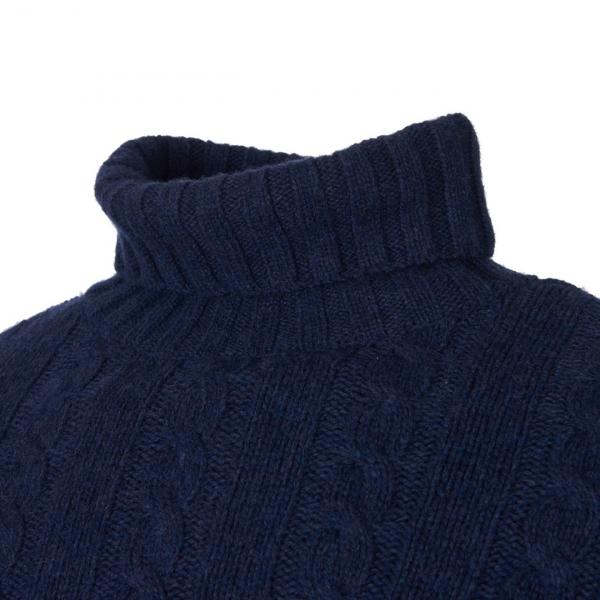 Barbour Duffle Cable Crew Knitwear Dark Denim