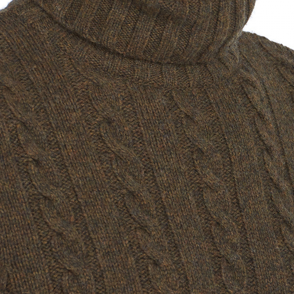Barbour Duffle Cable Crew Knitwear Willow Green