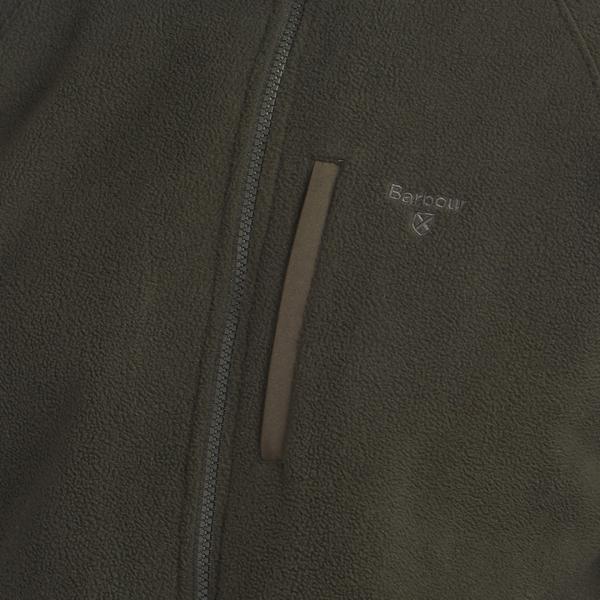 Barbour Essential Fleece Zip Through Forest Chest Pocket
