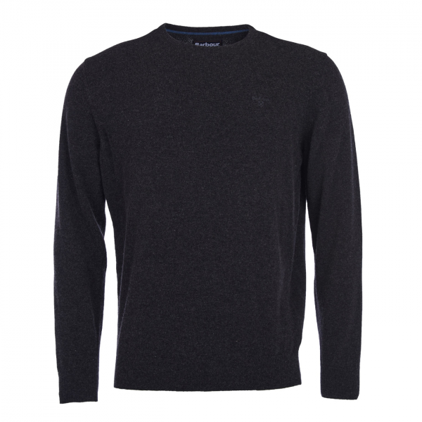 Barbour Essential Lambswool Crew Neck Charcoal