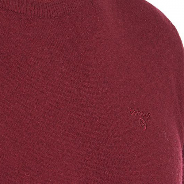 Barbour Essential Lambswool Crew Neck Ruby