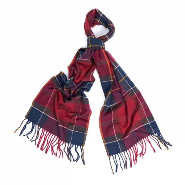 Barbour Galingale Tartan Scarf Red