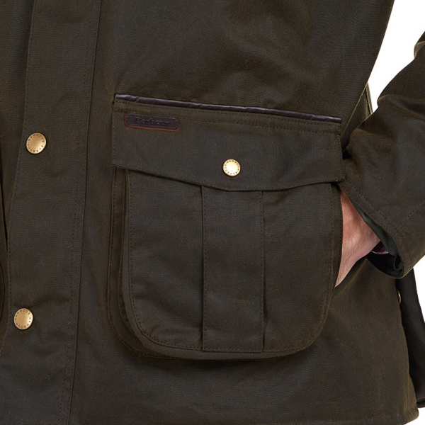 Barbour Hebden Wax Jacket Olive