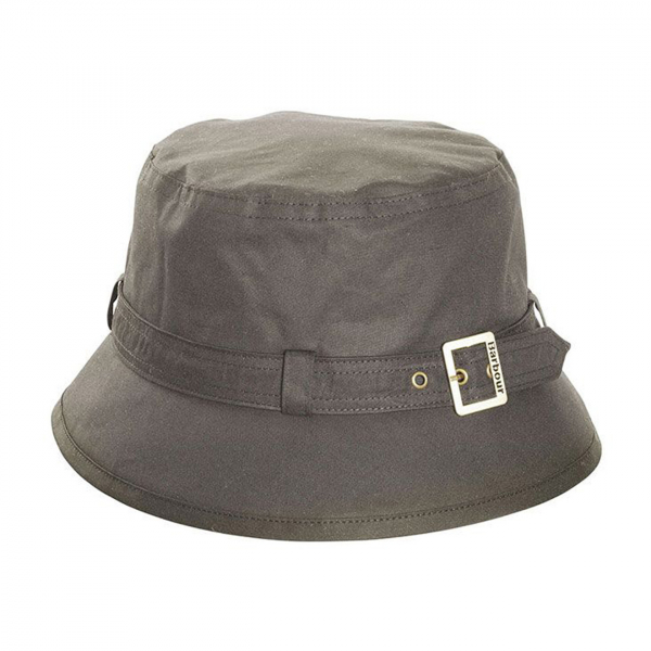Barbour Kelso Wax Belted Hat Olive