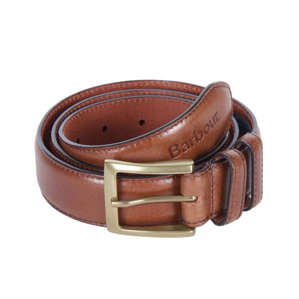 Barbour Leather Belt Gift Box Dark Brown