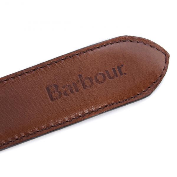 Barbour Leather Belt Gift Box Dark Brown
