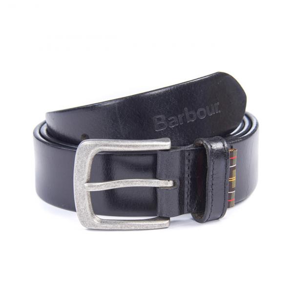 Barbour Malton Leather Belt Gift Box Black