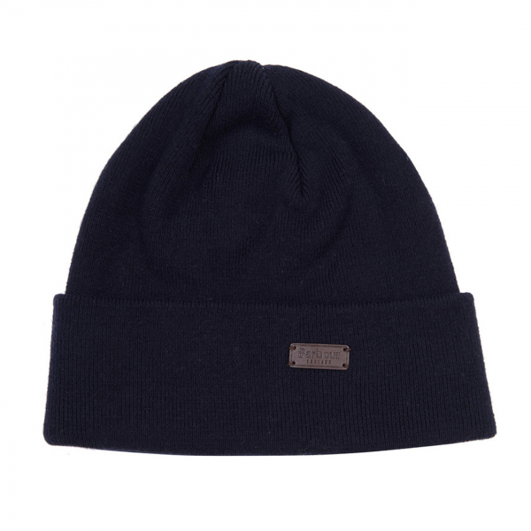 Barbour Swinton Beanie Hat Navy