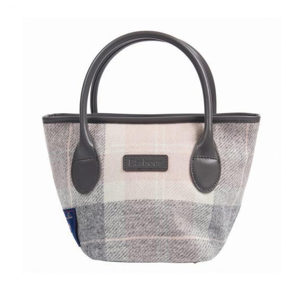 Barbour Tartan Mini Tote Bag Grey / Juniper
