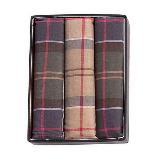 Barbour Tartan Pocket Square Selection
