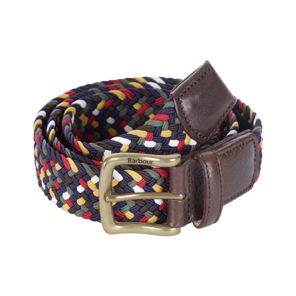 Barbour Tartan Stretch Belt Gift Box Classic Tartan