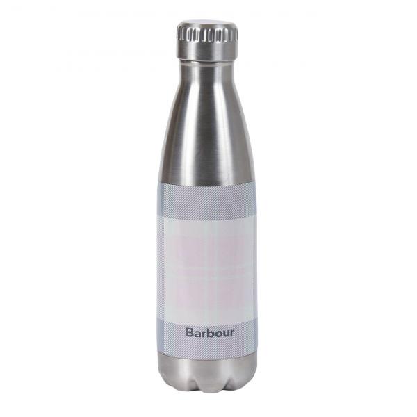 Barbour Tartan Water Bottle Pink / Grey Tartan