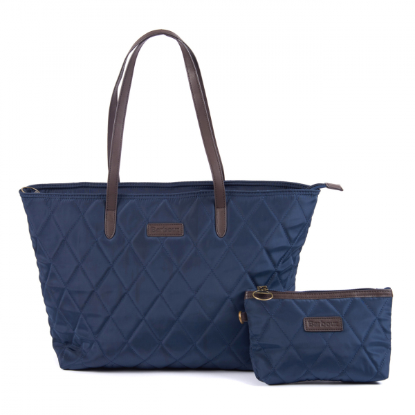 Barbour Witford Quilted Tote Navy