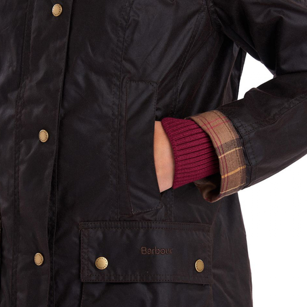 Barbour Womens Beadnell Wax Jacket Rustic