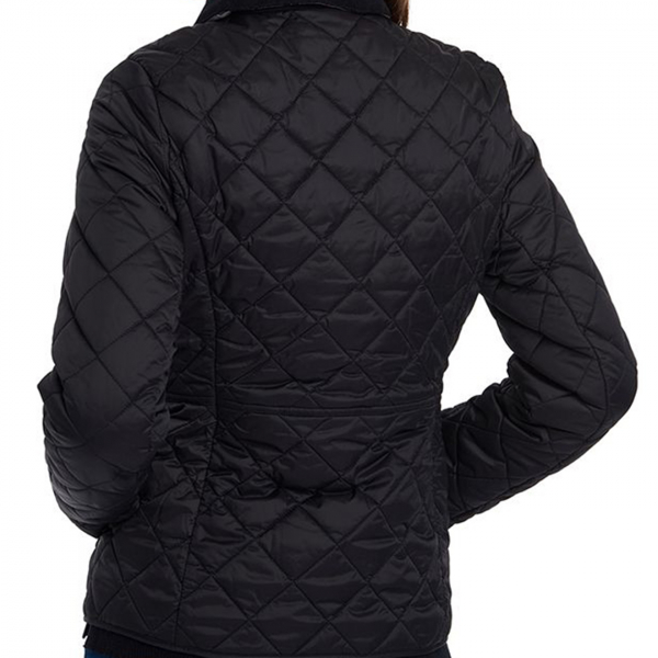 Barbour Womens Deveron Quilted Jacket Black