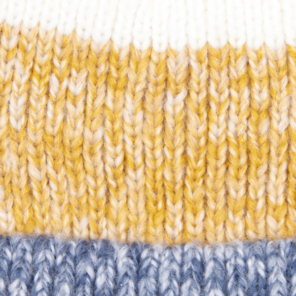 Barbour Womens Dipton Beanie Navy/Ecru/Ochre Autumnal Stripes